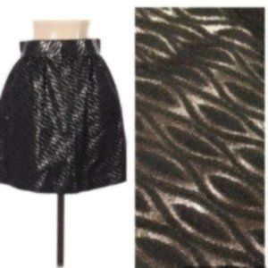 Tibi Formal Skirt Black & Silver Sz 4 EUC
